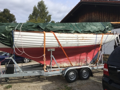 Bootstransport in die neue Werkstatt