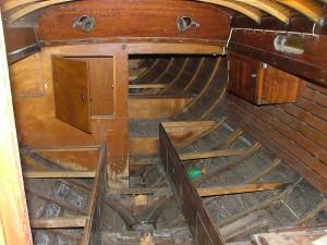 Der Plöner - Kajüte muß restauriert werden
