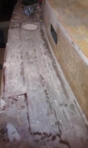 Glasfaser zur Decksverstärkung aufbringen
