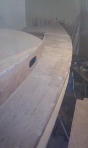 Decksplatten verschleifen