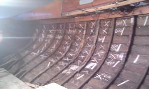 Zu tauschende Planken markieren