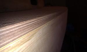 Deckskanten umleimen